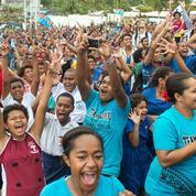 Les Fidji en liesse après l'or décroché en rugby à VII