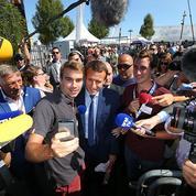 À Châlons, Macron mesure sa popularité de presque candidat