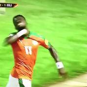 Serge Aurier mime un égorgement après avoir marqué un but