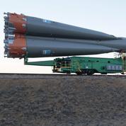 La fusée Soyouz est prête à décoller, le Français Thomas Pesquet aussi