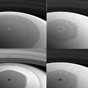 Des photos inédites du pôle nord de Saturne