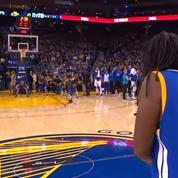 Un fan des Warriors remporte 5.000$ grâce à un shoot depuis le milieu de terrain