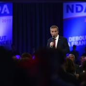 Dupont-Aignan va appeler à boycotter les marques qui délocalisent