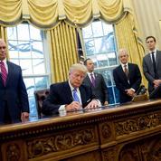 Le cabinet de Trump, le moins diversifié depuis Ronald Reagan