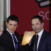 Hamon entame son discours sans même attendre la fin de celui de Valls