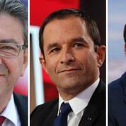 Hamon, Macron, Mélenchon: l'un peut-il s'imposer aux dépens des autres?