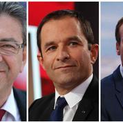 Mélenchon, Hamon, Macron: panorama d'une gauche éclatée façon puzzle