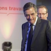 Benoît Hamon, Emmanuel Macron et François Fillon en opération séduction à la CFDT