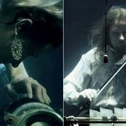 Danemark : les étranges concerts sous l'eau des musiciens en aquarium