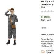 La vente d'un déguisement «d'enfant déporté» sur Rue du commerce suscite l'indignation