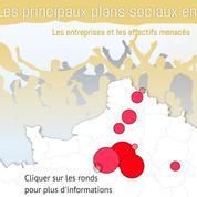 La carte des plans sociaux dont va hériter le gouvernement d'Édouard Philippe