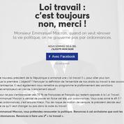 Retour de la pétition contre la loi travail, qui vise désormais Emmanuel Macron
