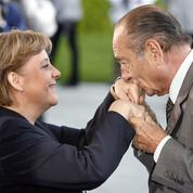 Chirac, Sarkozy, Hollande, Macron : les présidents de Merkel
