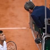 Djokovic hausse le ton face à l'arbitre qui vient de le sanctionner