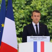 Macron à Oradour-sur-Glane : «Nous sommes ici pour pleurer les morts»