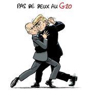Le dessin d'Ixène sur la rencontre Trump-Poutine au G20
