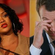 La rencontre entre Rihanna et Macron provoque l'hilarité des internautes