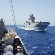 À bord du Mistral pour traquer les mines en mer Rouge
