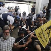 Action coup de poing d'agriculteurs à Limoges pour le paiement des aides