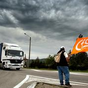 Rassemblements et barrages de routiers contre la loi Travail