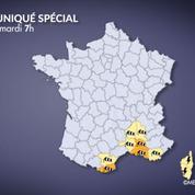 Trois départements en alerte orange dans le Sud pour vents violents