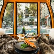 Le pari des chalets éphémères dans les hôtels parisiens