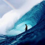 Un peu de surf et de grand bleu sous ce ciel gris de janvier