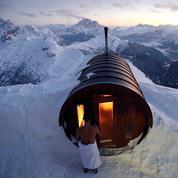 La pause photo du jour avec un sauna perché à 3000 mètres d'altitude