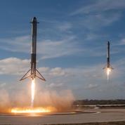 Falcon Heavy : un double atterrissage spectaculaire et un crash très discret