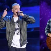 Eminem pas vraiment «in love» dans River ,son clip en duo avec Ed Sheeran