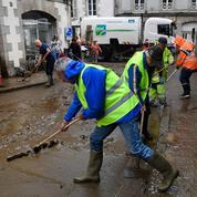 À Morlaix, l'équivalent d'un mois de pluie a inondé les rues en moins d'une heure
