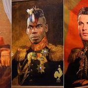 Mondial 2018: un artiste italien peint Messi, Pogba, Ronaldo ou Zidane en généraux russes