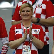 La présidente croate, une supportrice pas comme les autres