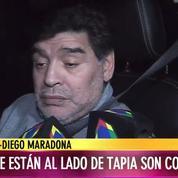 Complètement ivre au volant, Diego Maradona répond à des journalistes