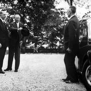 Première rencontre entre de Gaulle et Adenauer à Colombey le 14 septembre 1958