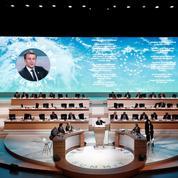 Macron se pose en chef de file de la lutte contre le réchauffement climatique