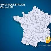 Orages : quatre départements du sud de la France en alerte orange
