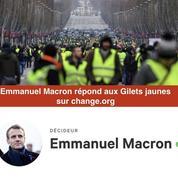 Macron répond directement à la pétition des «gilets jaunes» sur «Change.org»