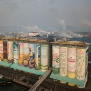 En Corée du Sud, des silos à grains battent le record de la plus grande fresque du monde