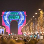 Un spectacle sur l'Arc de Triomphe pour fêter le Nouvel an