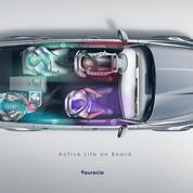 Dans son cockpit du futur, Faurecia transforme la voiture en bulle de confort