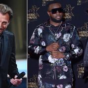 Johnny, Maître Gims, Dadju, le trio de tête des ventes d'albums en 2018