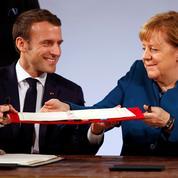 À Aix-la-Chapelle, Macron et Merkel se lient contre les populismes