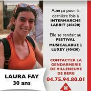 Disparition dans les Landes: le corps de Laura Fay retrouvé, son compagnon mis en examen