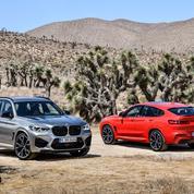BMW X3 et X4 M, les SUV bavarois roulent des mécaniques