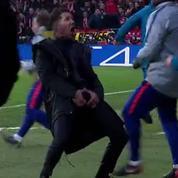 Le geste obscène de Diego Simeone pour célébrer un but de l'Atlético Madrid