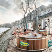 Les bains bouillonnants d'Ikea sur les quais de Seine font polémique