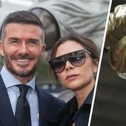 David Beckham piégé par une fausse sculpture à son effigie