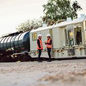 Un train désherbeur pour épandre un peu moins de glyphosate sur les voies