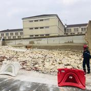Yvelines: le mur d'enceinte de la vétuste prison de Poissy s'écroule